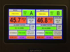 Touchscreen Controls provide Accurate Temperature Management and Flexibility